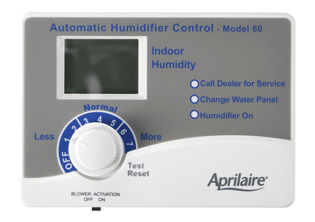 aprilaire humidfier control for home air humidity