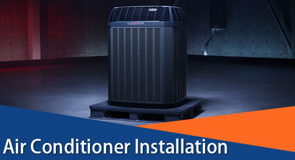 air conditioner installation for buds heating and cooling