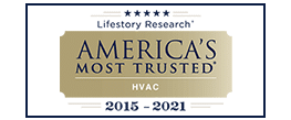 trane most trusted hvac award from lifestory research